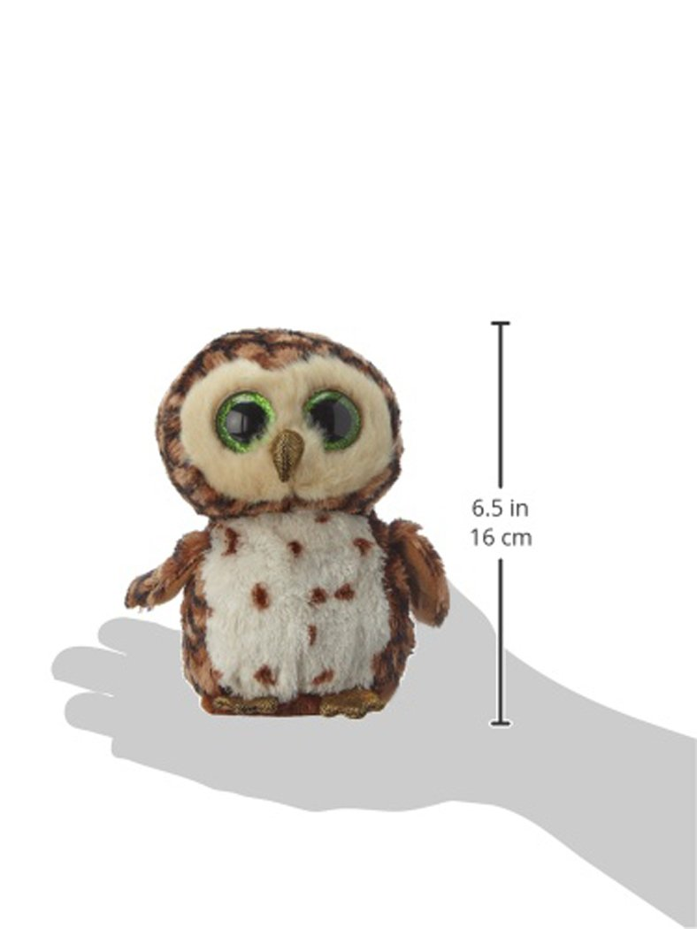 ty beanie boo plush sammy the owl 15cm amazon co uk toys u0026 games