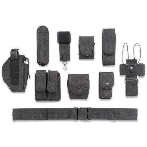 Ultimate Arms Gear 10pc Police-Law Enforcement-Security Gear Modular Nylon Duty Belt With (Duty Gear Holster)