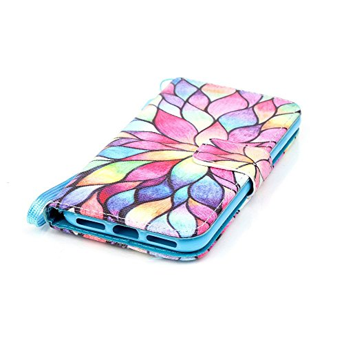 Apple iPhone 7 Sac étui Cover Case de protection Motif coloré Multicolore decui Multicolore Housse en simili cuir