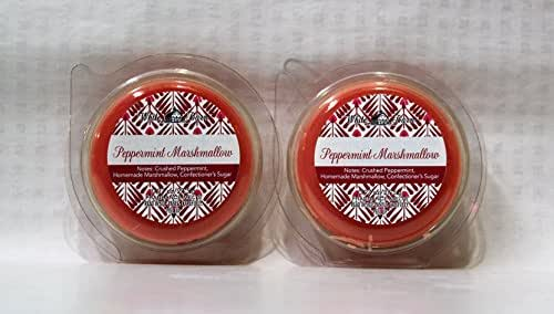Bath & Body Works 2 Pack Peppermint Marshmallow Fragrance Melt. 0.97 Oz / 27.5 g (White Barn)