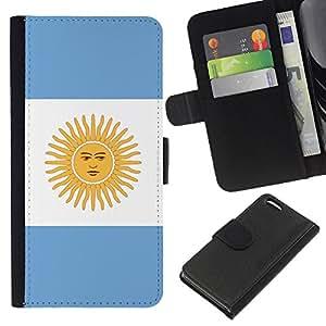 eJoy---La carpeta del tirón la caja de cuero de alta calidad de la PU Caso protector - Apple iPhone 5C - --Argentina Flag;