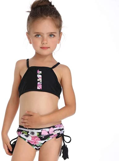 Fabal Kids Baby Girls Leaf Print Vest Summer Swimwear Swimsuit Bikini Outfits