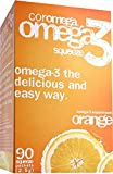 Coromega Omega-3 Supplement, Orange Flavor, Squeeze Packets, 90-Count Box (Pack of 3)