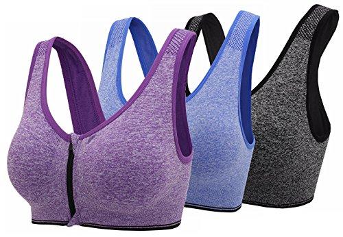 Womens Zipper Closure Sports Workout