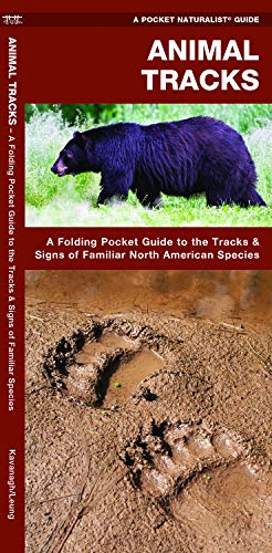 Animal Tracks: A Folding Pocket Guide to the Tracks & Signs of Familiar North American Species (Wildlife and Nature Identification)