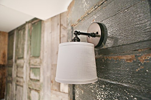 Fabric Tapered Shade - Tapered Drum Shade Wall Sconce - 7 Inch