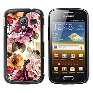 LECELL--Funda protectora / Cubierta / Piel For Samsung Galaxy Ace 2 I8160 Ace II X S7560M -- Vintage Vignette Sunshine --