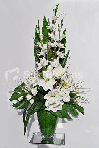 Gorgeous Artificial Fresh Touch Blanco Amaryllis Y Gladiolos