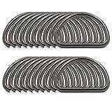BIKICOCO Metal D-Rings Buckle, 1.5 inch Non-Welded for Webbing Sewing DIY - Gunmetal - Pack of 20