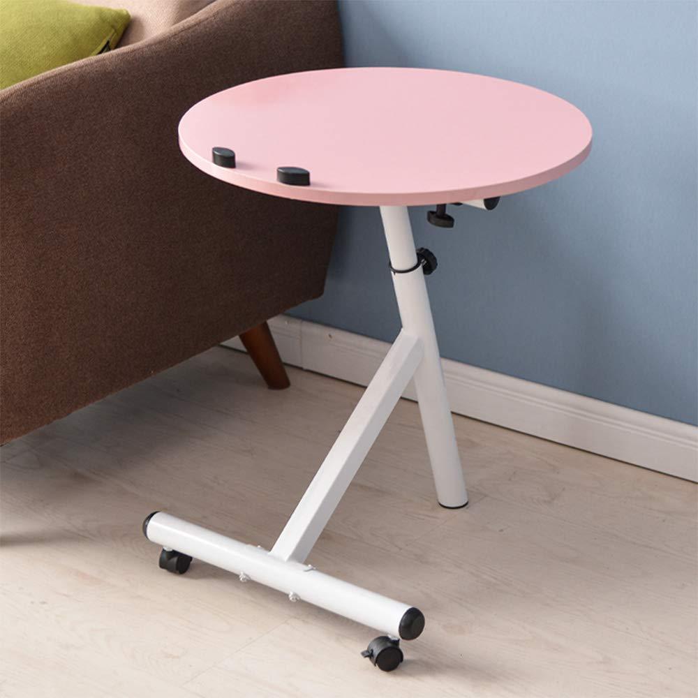 CHUNLAN 折り畳みテーブル 多機能コーヒーテーブル高さ調節可能なデスクトップ調節可能なリビングルームソファコーヒーテーブルダイニングテーブル  パウダー B07GFN3B16