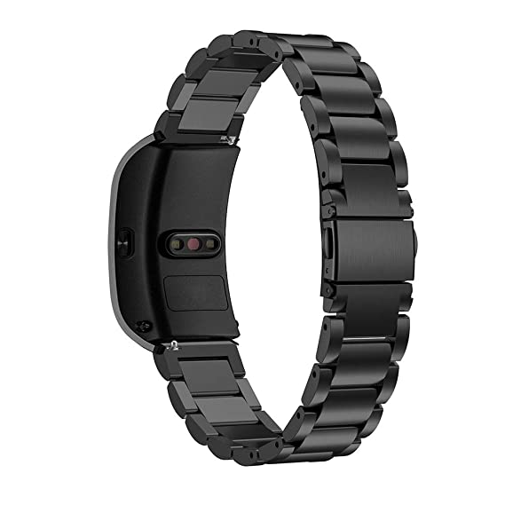 18mm Metal Watch Band for Huawei B5 Bands, Replacement Band Watch Strap Bracelet for Huawei B5 Watch Accessories (Black)