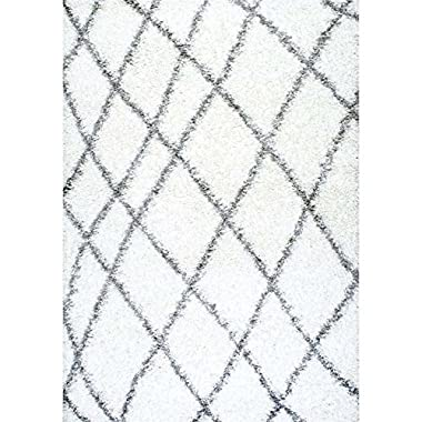 Nuloom 8' x 10' Alvera Easy Shag Rug in White