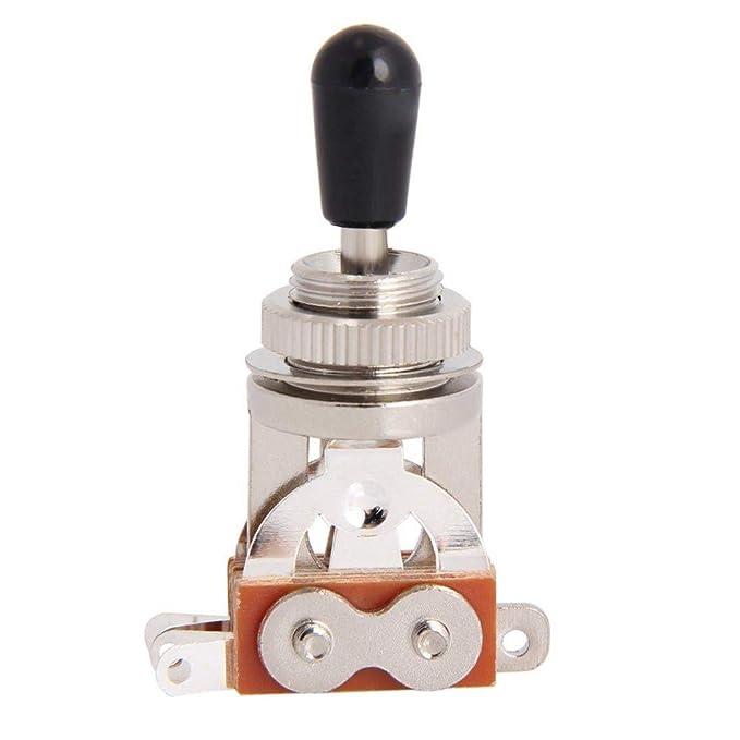 Interruptor de palanca para guitarra eléctrica - Interruptor de guitarra eléctrica de 3 vías Selector de pastilla Recogida de piezas para pastillas nuevas ...