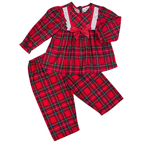 Laura Dare Classic Christmas Traditional 2 Piece Baby PJ Set, 18 Months