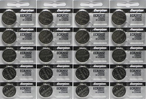 Energizer ECR2032 3-Volt Lithium Coin Batteries (20 Count) - Energizer 3v Lithium Battery