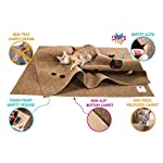 SnugglyCat The Ripple Rug - Made in USA - Cat Activity Play Mat - Thermally Insulated Base - Fun Interactive Play - Training - Scratching - Bed Mat 16