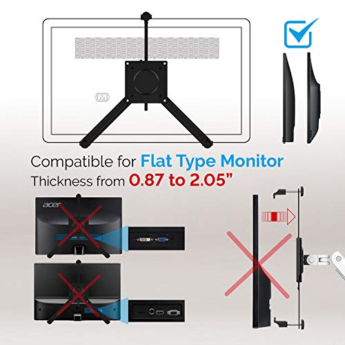 Bemorergo Universal Non-VESA Mount Adapter Kit Non-VESA Monitor Converter Mounting Screens Arm, VESA Mount Bracket Adapter Fits Most 17-32 Inch Screen VESA 100x100, Quick Installation(Black)