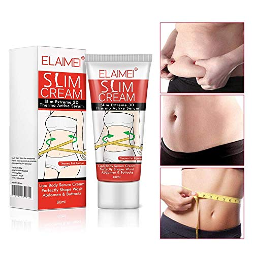 Slimming Cream,Hot Cream Cellulite Removal Cream Natural Slim Firming Body Cream, Anti Cellulite Slimming Fat Burner for Shaping Waist, Abdomen and Buttocks 60ml