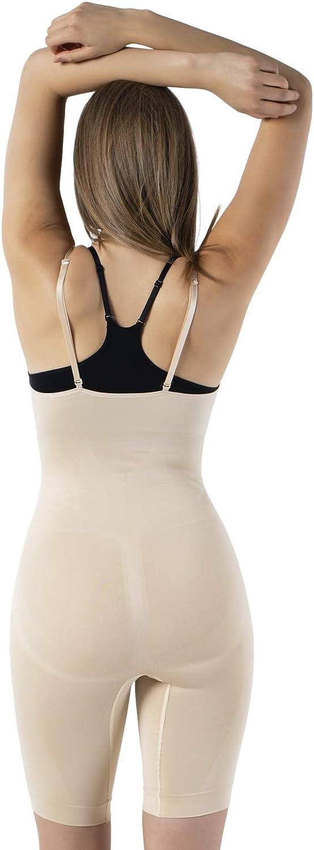 a Gamba Lunga per Donna UnsichtBra Body Intero Modellante Scollato