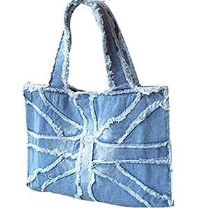 Womens Canvas Shoulder Handbag Fashion Denim Retro Tote Purse Shoulder Bags Messenger Bag