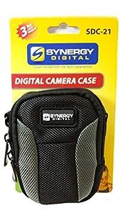 SDC-21 Small Point & Shoot Digital Camera Case, Black / Grey from Dynamic Power