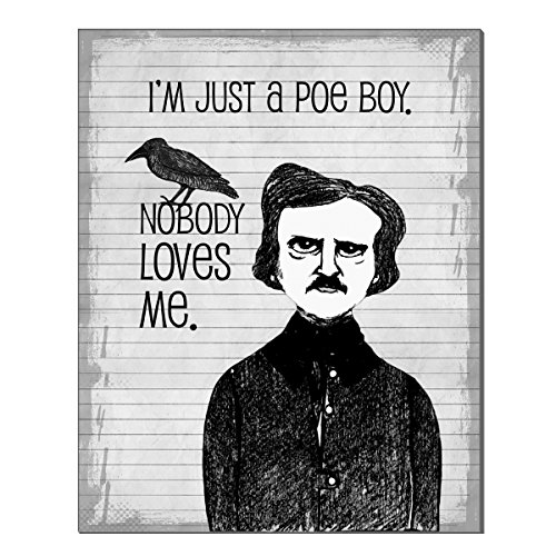 Poe Boy 8x10 inch Literary Art Print by Pithitude -