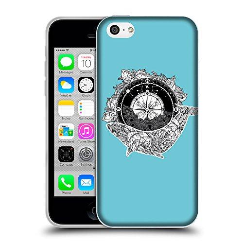 GoGoMobile Coque de Protection TPU Silicone Case pour // Q09130627 Boussole antique 2 Cyan // Apple iPhone 5C