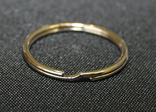 300 QTY : KEY RINGS, Nickle Plated / 1 Inch (25mm)/ Split Ring Style Key Chain Connector