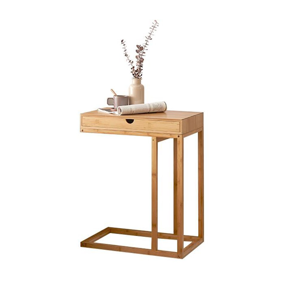 ZfgG Multifunctional Storage Table Wooden Sofa Table Small Table Dessert Table Bedroom Small Desk Living Room Sofa Side Mobile Small Coffee Table 50X35X68.5cm