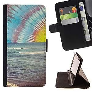 Momo Phone Case / Flip Funda de Cuero Case Cover - Lsd Hippie Drogas Shrooms Beach - Samsung Galaxy A3