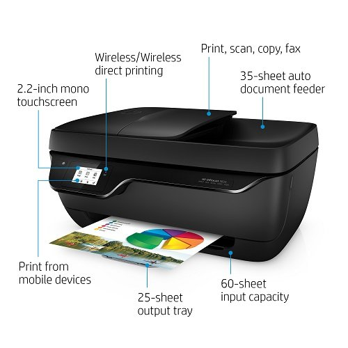 HP K7V40A#B1H OfficeJet 3830 All-in-One Printer w/Instant Ink Bundle by HP