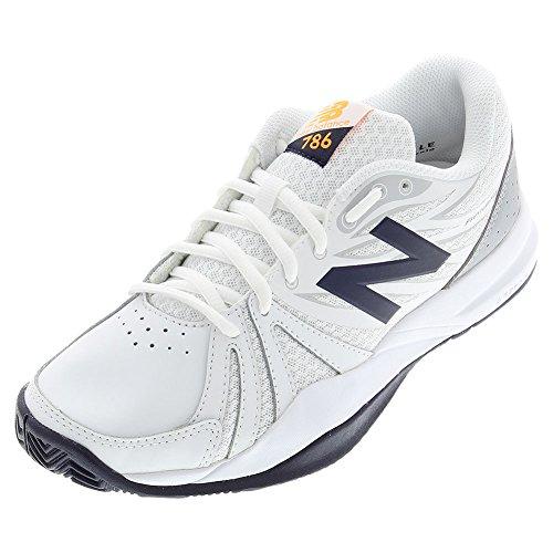 New Balance Women's 786v2 Tennis Shoe, White/Blue, 7.5 D US by New Balance