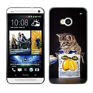 YOYO Slim PC / Aluminium Case Cover Armor Shell Portection //Cute Cat Kitten In A Jar //HTC One M7