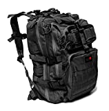 24BattlePack Tactical Backpack | 1 to 3 Day Assault Pack (Expandable) | 40L Bug Out Bag | Large Laptop Bag | Hiking Back Pack for Camping Travel Army Military Ruck Sack Computer Case Day Pack (Black)