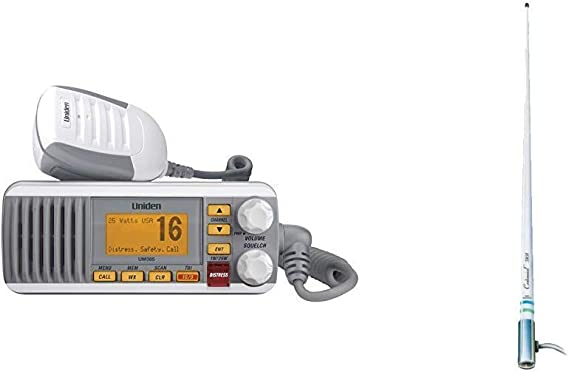 UNIDEN UM385 Fixed Mount VHF Radio White