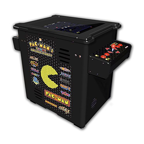 Namco Pac Mans Arcade Party Cocktail Game with Black Cabinet, Authentic Joystick and Controls and 19-Inch Color Monitor (Machines Namco Arcade)