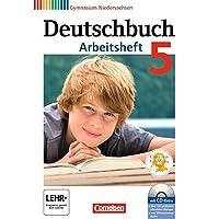 Deutschbuch Gymnasium - Niedersachsen: 5. Schuljahr - Arbeitsheft mit Lösungen und Übungs-CD-ROM