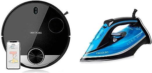 Cecotec Robot Aspirador Conga Serie 3290 Titanium + Plancha Force Titanium 520: Amazon.es: Hogar