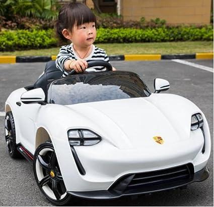 Modo dual para niños a la vuelta en porsche estilo eléctrico niños 12 V batería control remoto juguete cuidado Swaying & Drive puertas abiertas diseño de la ...