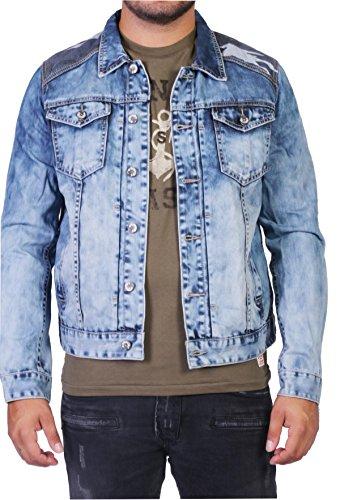 dosmil Hombre Jeans Chaqueta con camuflaje azul L : Amazon.es: Ropa y accesorios
