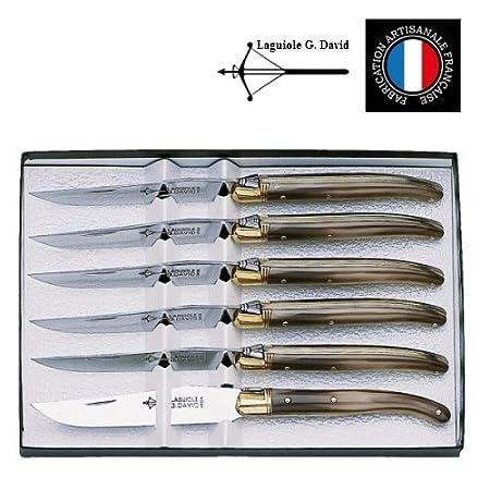 G. David - Estuche con 6 Cuchillos de Mesa Laguiole Arbalete G ...