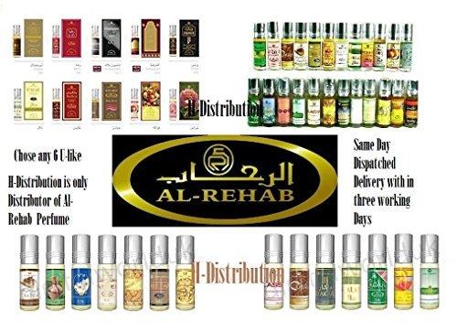 Al Rehab any 6 perfume oil (6 x 6ml) mix and match perfume Oil/Attar/ Itar...