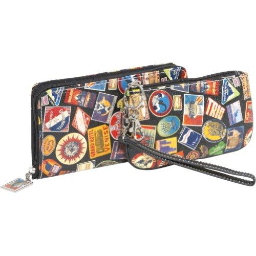 Sydney Love Vintage Hotel-Zip Around Travel Wallet and Camera Case/Wristlet