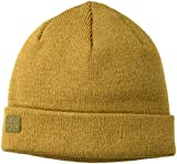 Coal Men's The Harbor Classic Fine Knit Cuffed Beanie Hat, Heather Mustard, Low Profile