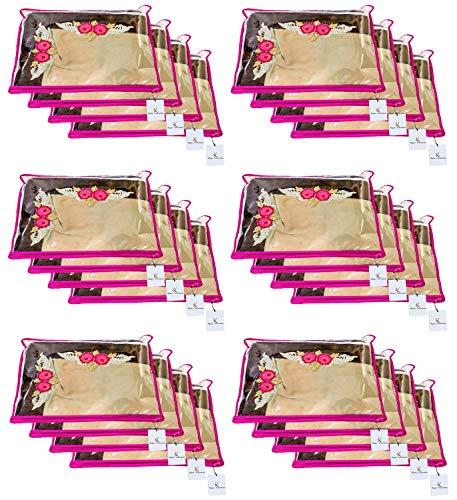 Kuber Industries Single Packing Saree Cover 24 Pcs Set