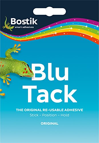 2 x Bostik Blu Tack Mastic Adhesive Putty Non Toxic Blue approx 60g 801103