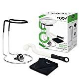 NEW! VOOV Contemporary 4 Piece Premium Decanter Cleaning Set with Drying Stand, Cleaning Beads, Cleaning Brush and Microfiber Drying Cloth (Decanter Not Included)