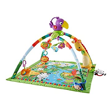 Playful Large Quilted Play Mat Rainforest Music & Lights Deluxe Gym - Packed With Activities That Can Provide Your Baby With Plenty Of Playtime Fun Throughout The Day B01IGTCAIQ