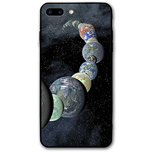 iPhone 8 Plus Case, Kepler Planets Space Cell Phone Case Slim-Fit Shock Proof Anti-Finger Print Phone Case for Women Men Girls Boys