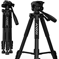 Andoer Camera Tripod, Compact and Lightweight with Universal Tripod Smartphone Mount for Apple, iphone Samsung and Other Brands Smartphones+carrying bag